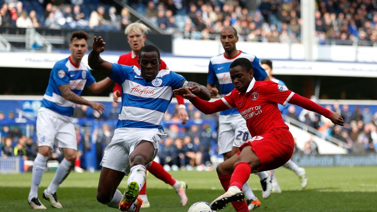Ademola Lookman in action for Charlton against QPR last season