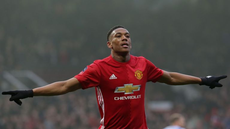 Anthony Martial has scored six goals this season