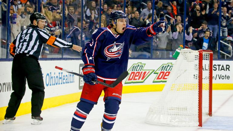 Cam Atkinson scored two of Columbus' goals in their 15th straight win