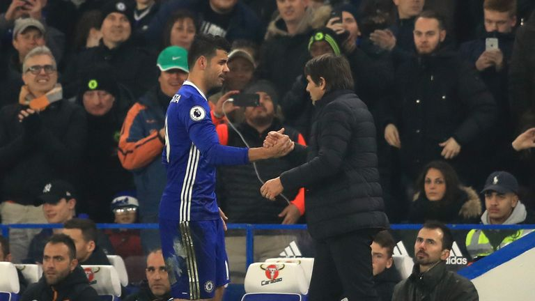 Antonio Conte (right) has made 84 out of a possible 84 substitutions in the Premier League this season