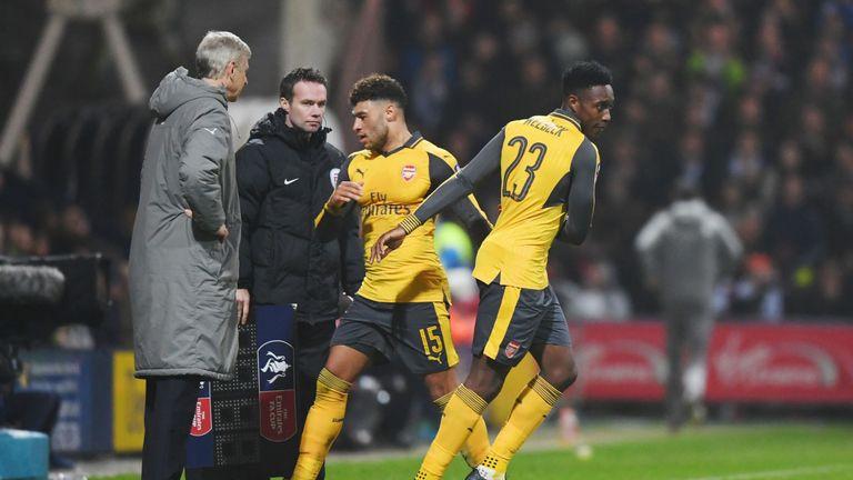 Danny Welbeck made his Arsenal comeback in the 2-1 FA Cup win at Preston