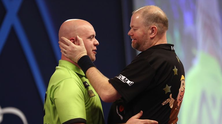 Dutch giants Michael van Gerwen and Raymond van Barneveld will clash