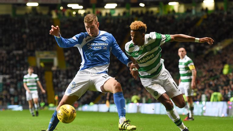David Wotherspoon (left) tussles with Scott Sinclair during Wednesday's contest