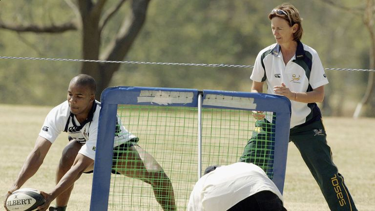Dr Sherylle Calder worked with the Springboks