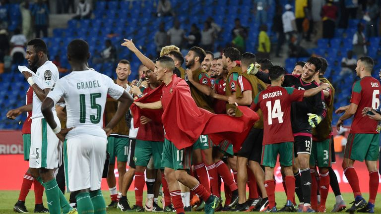 Morocco qualified for the quarter-finals with a 1-0 win over Ivory Coast