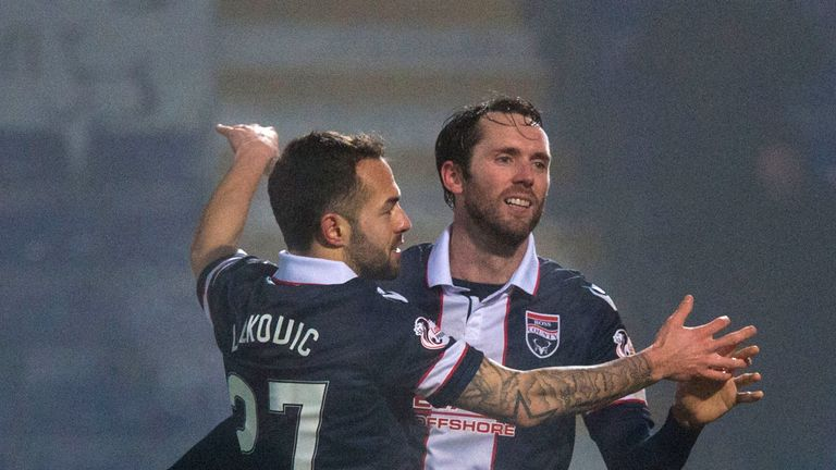Jim O'Brien scored on his debut for Ross County against Dundee United