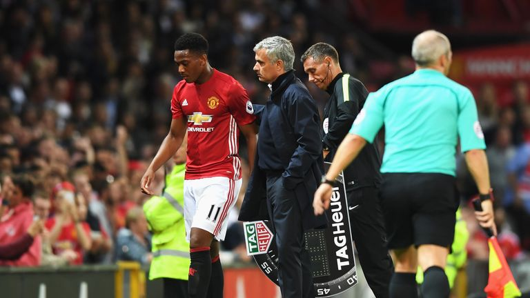 Mourinho said last week that Martial 'has to perform better than the others'