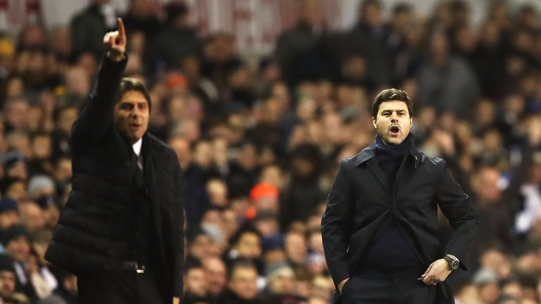 Antonio Conte and Mauricio Pochettino meet at Wembley on Saturday