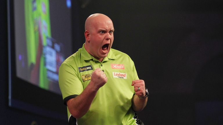 Michael van Gerwen is chasing his second world title after a world record display in his semi-final (Picture by Lawrence Lustig)