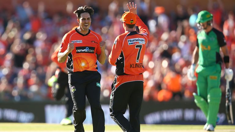 Mitchell Johnson impressed enough for the Perth Scorchers in the Big Bash  to earn another IPL