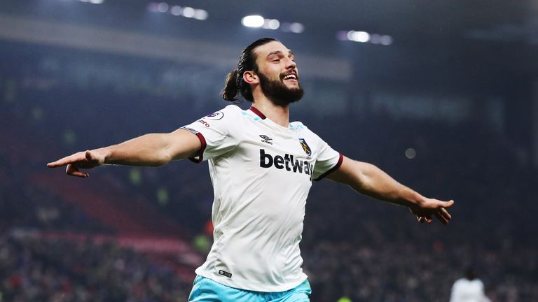 Andy Carroll is West Ham's current first-choice frontman