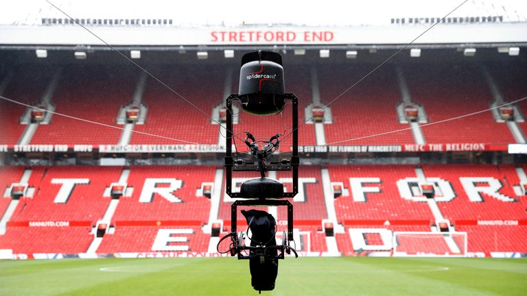 Sky Sports' innovative Premier League coverage has included the use of 'Spidercam'