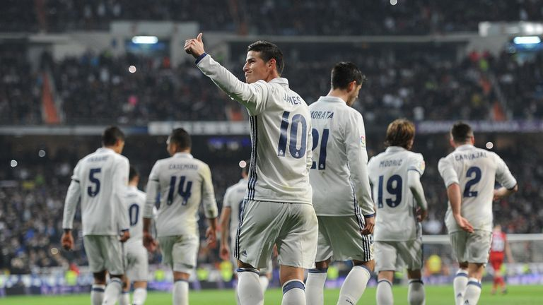 Real Madrid are currently one point ahead of Barcelona at the top of the league