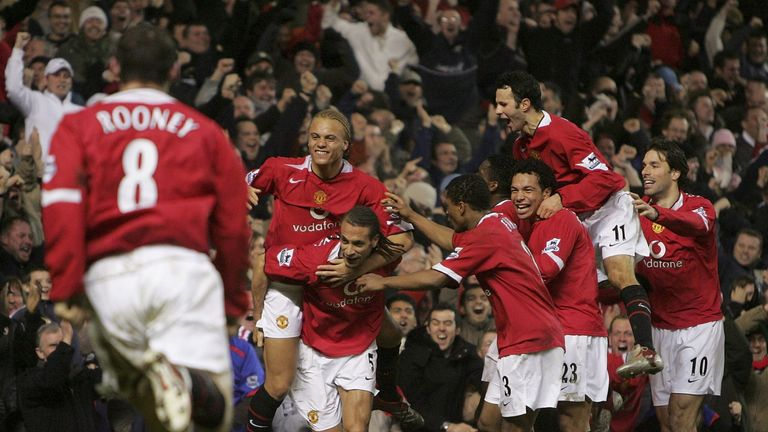 Rio Ferdinand's late header snatched a dramatic United victory in 2006