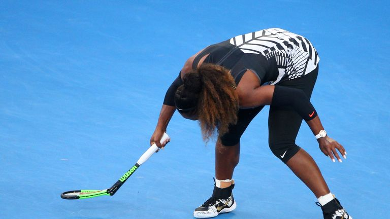 Serena didn't have everything her own way and her early frustrations boiled over