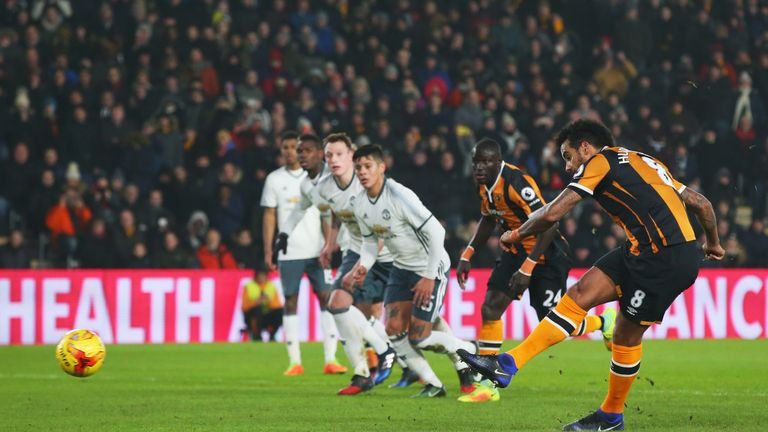 Tom Huddlestone put Hull ahead on the night from the penalty spot