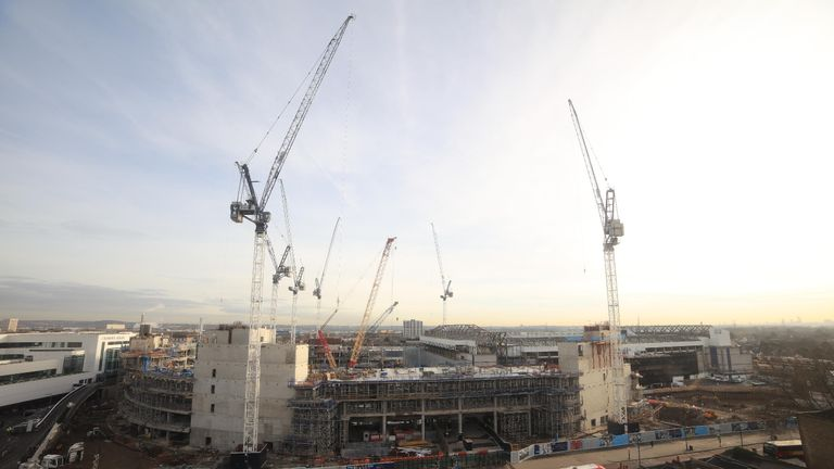 Construction on Tottenham's new stadium at White Hart Lane has been hit by minor delays