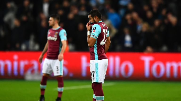 Payet came on as a second-half substitute in West Ham's 5-0 FA Cup home defeat to Manchester City