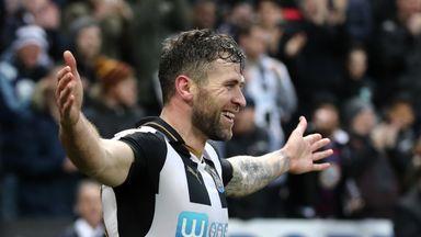 Daryl Murphy celebrates scoring for Newcastle United