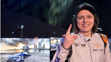 Bono Huis celebrates victory in Vegas (Pic courtesy of FIA Formula E)