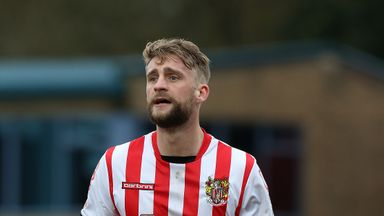 Stevenage's Fraser Franks needed treatment after a clash of heads.