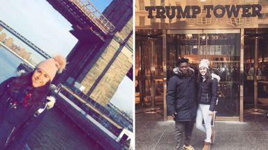 Olivia Breen soaking up the delights of New York (Twitter @BreenOlivia)