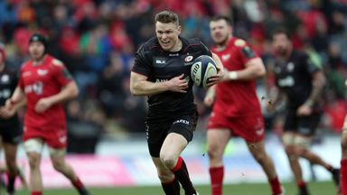 Chris Ashton broke Scarlets' hearts with a try in the final play of the game