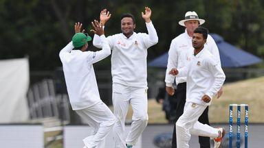 Shakib Al Hasan struck late to boost Bangladesh