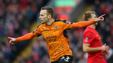 Andreas Weimann joined Wolves on loan from Derby during the January transfer window