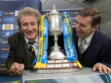Sir Rod Stewart and Alan Stubbs took charge of the Scottish Cup draw
