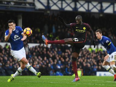 Yaya Toure in action for City against Everton