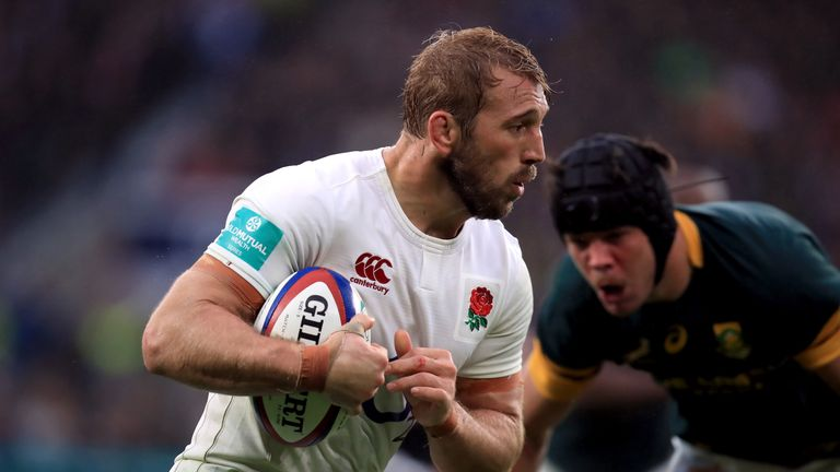 Chris Robshaw in action against South Africa