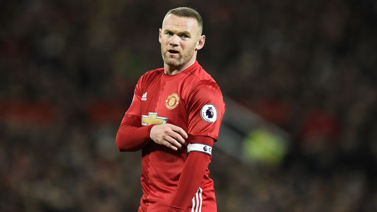 Wayne Rooney during the Premier League match between Manchester United and Liverpool at Old Trafford