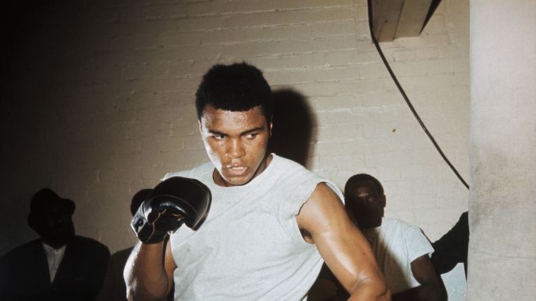 Muhammad Ali retired in 1981 after winning 56 of his 61 fights