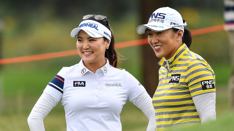 Yang (right) took the tournament by five strokes from fellow Korean star So Yeon Ryu