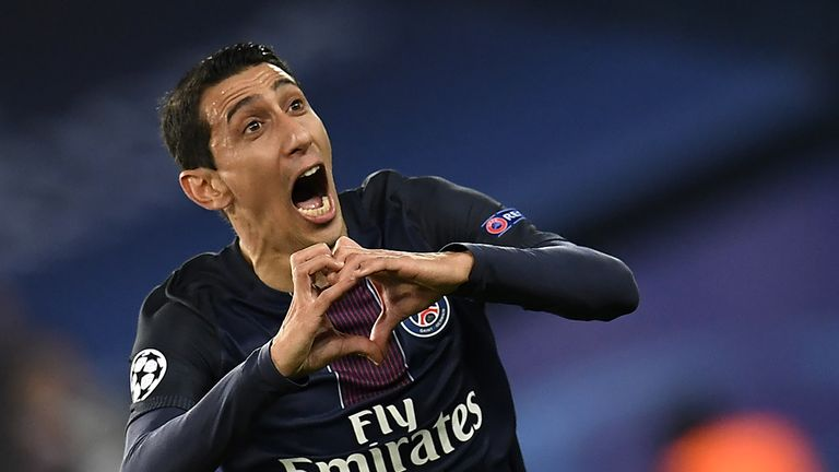 Angel Di Maria could miss out for PSG on Wednesday after netting twice in the first leg