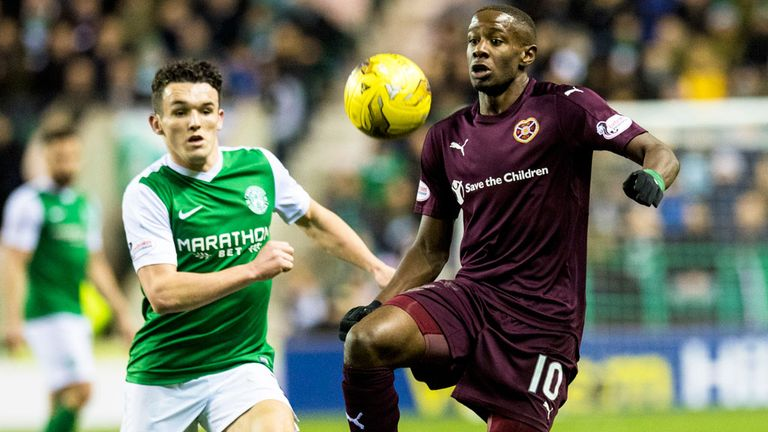 Arnaud Djoum could be key for Hearts this weekend