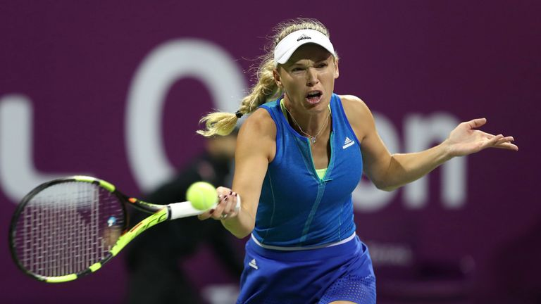 Denmark's Caroline Wozniacki was knocked out by Mladenovic