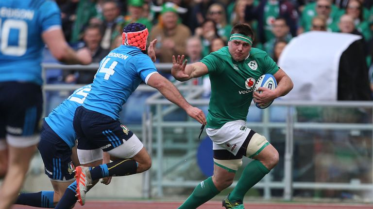 CJ Stander scored a hat-trick against Italy in Rome