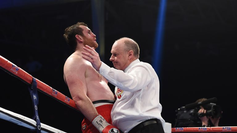 The Liverpudlian was halted in the seventh round at Olympia in London