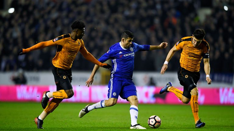 Costa was able to get on the scoresheet to seal victory for Chelsea