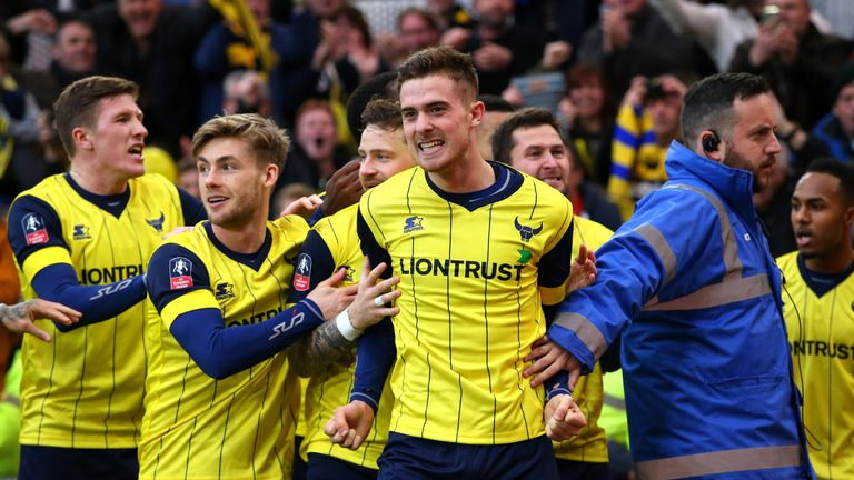 Antonio Martinez (right) celebrates with his Oxford team-mates