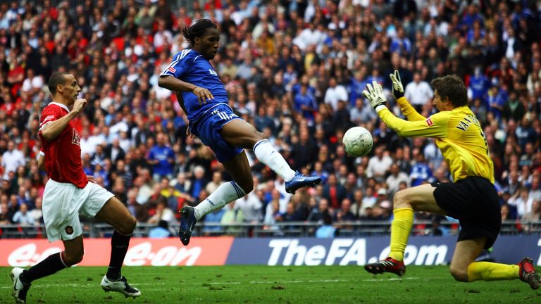 Didier Drogba scored the winner in the 2007 FA Cup final to help Chelsea edge past Manchester United 1-0