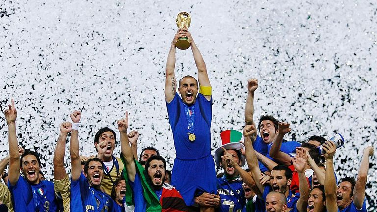 Fabio Cannavaro lifts the World Cup in Berlin