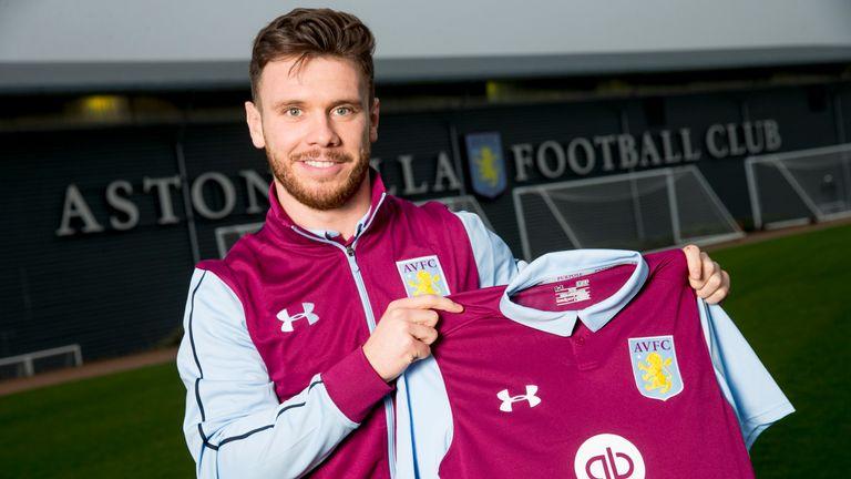 New Aston Villa signing Scott Hogan at the club's Bodymoor Heath training ground