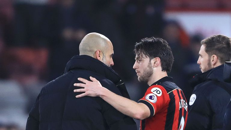Bournemouth's Harry Arter receives congratulations on becoming father