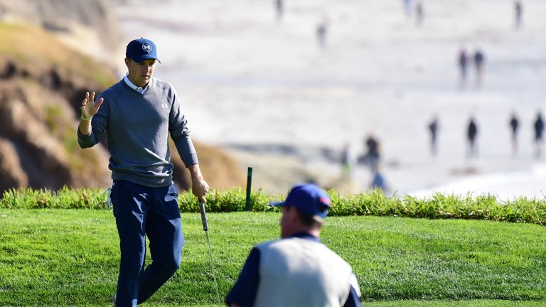 Leader Jordan Spieth looking to run away with AT&T Pebble Beach Pro