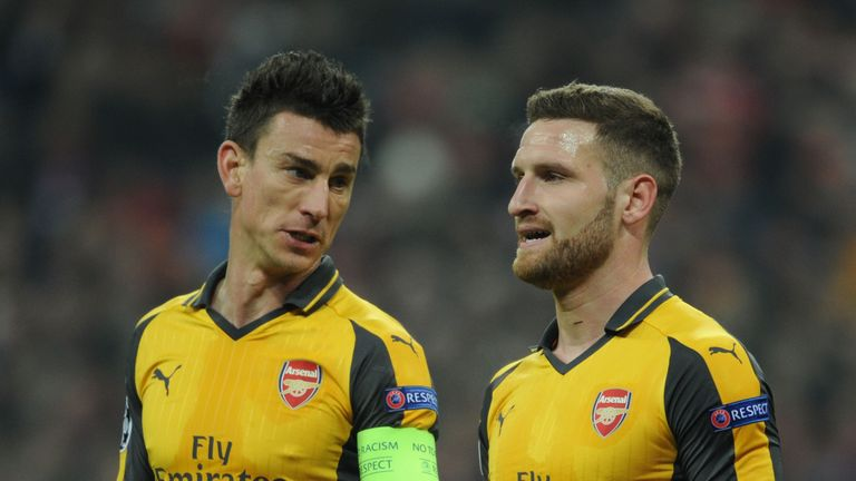 Laurent Koscielny was forced off in Munich through injury
