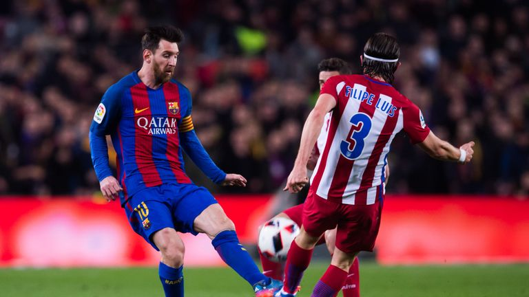 Lionel Messi does not make this team but Filipe Luis of Atletico Madrid does