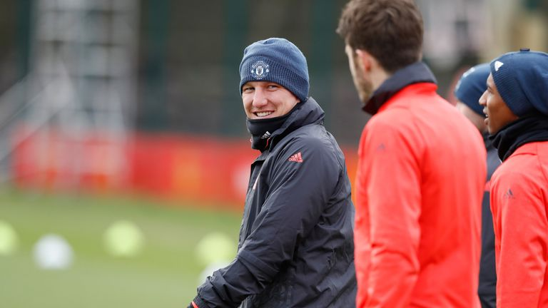 Bastian Schweinsteiger could feature for Manchester United with Herrera suspended